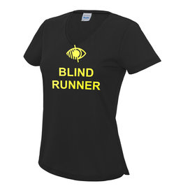 Ladies Blind Runner V Neck Cool T