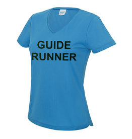 Ladies Blind Guide Runner V Neck Cool T