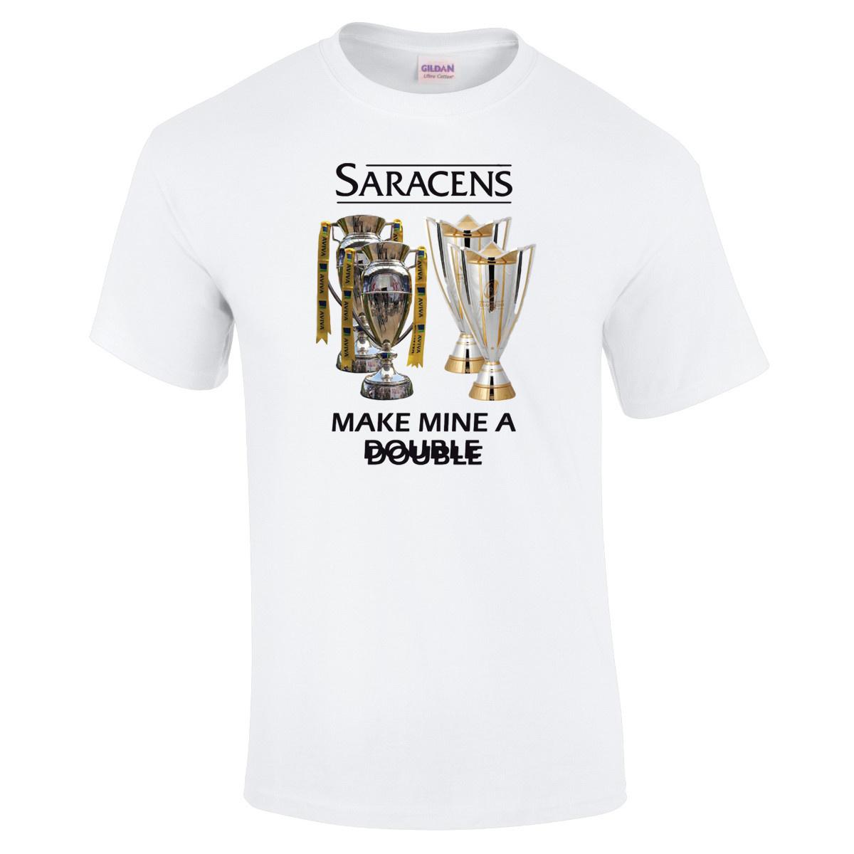 Premium Force Saracens Adult Make Mine A Double T Shirt