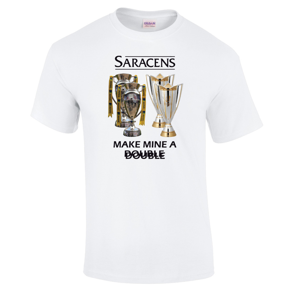 Saracens Saracens Adult Make Mine A Double T Shirt