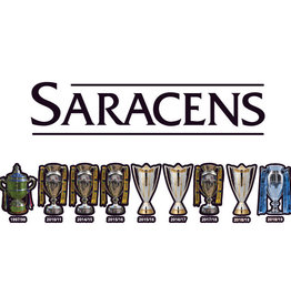 Saracens Cup Line Up Window Sticker 2018/19