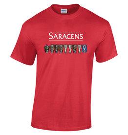 Premium Force Saracens Adult Cup Line Up T Shirt