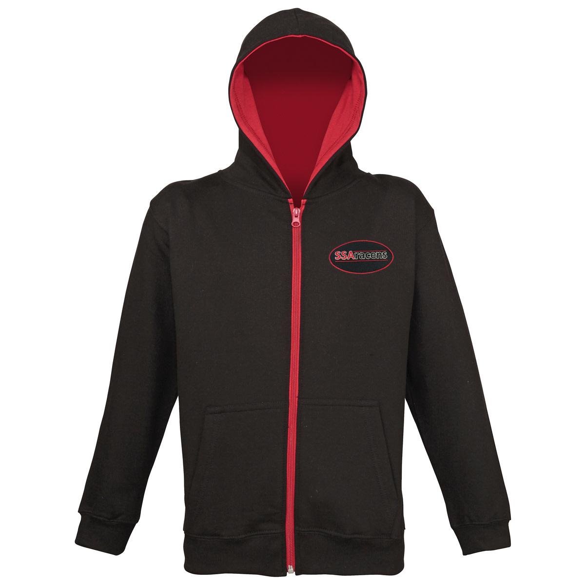 Premium Force Junior SSA Full Zip Contrast Hoodie