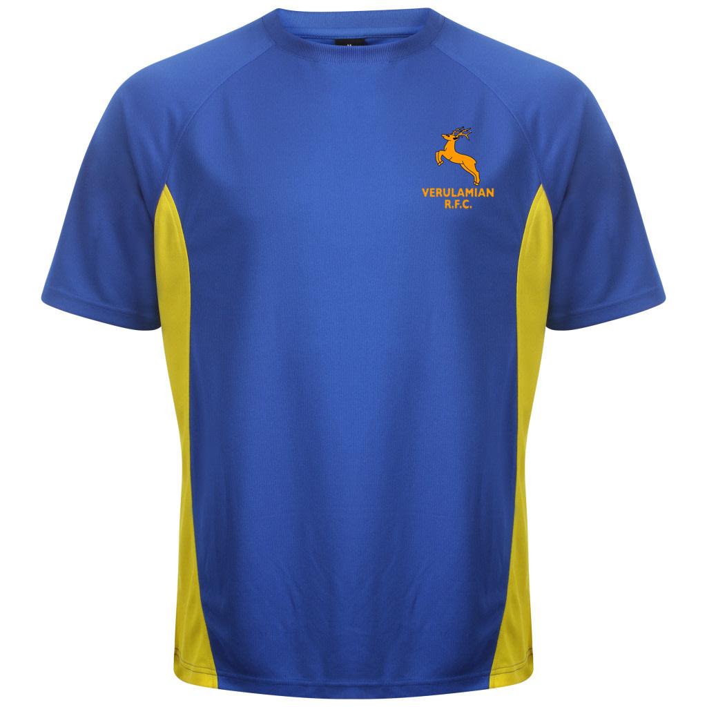 Vrfc Adults T Shirt Royal Yellow Premium Force