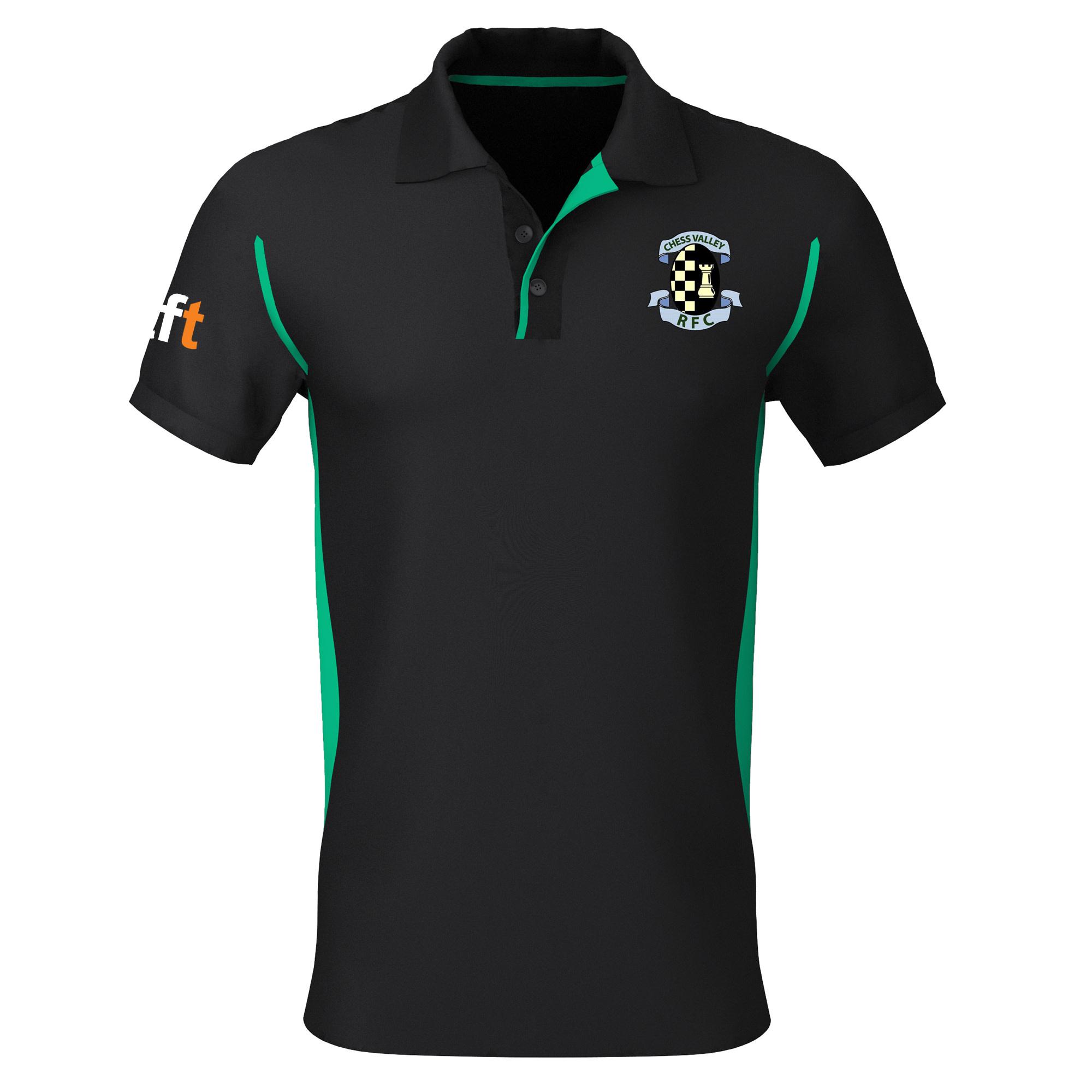 Chess Valley Junior Premium Polo Black/Green
