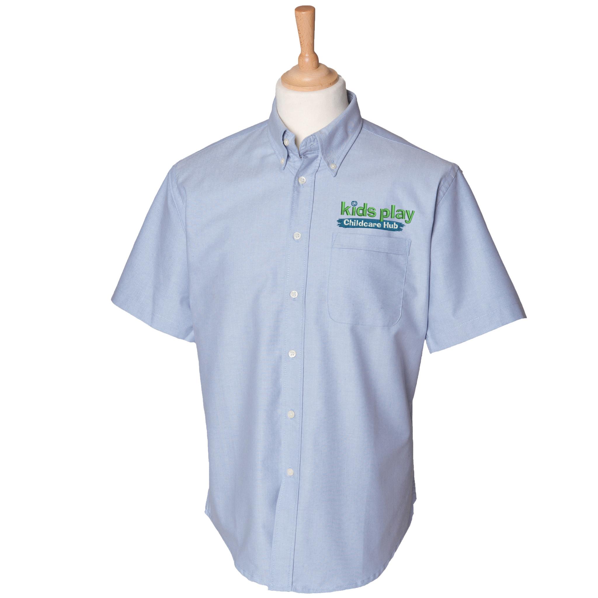 Premium Force Kids Play Mens Childcare Hub S/S Oxford Shirt
