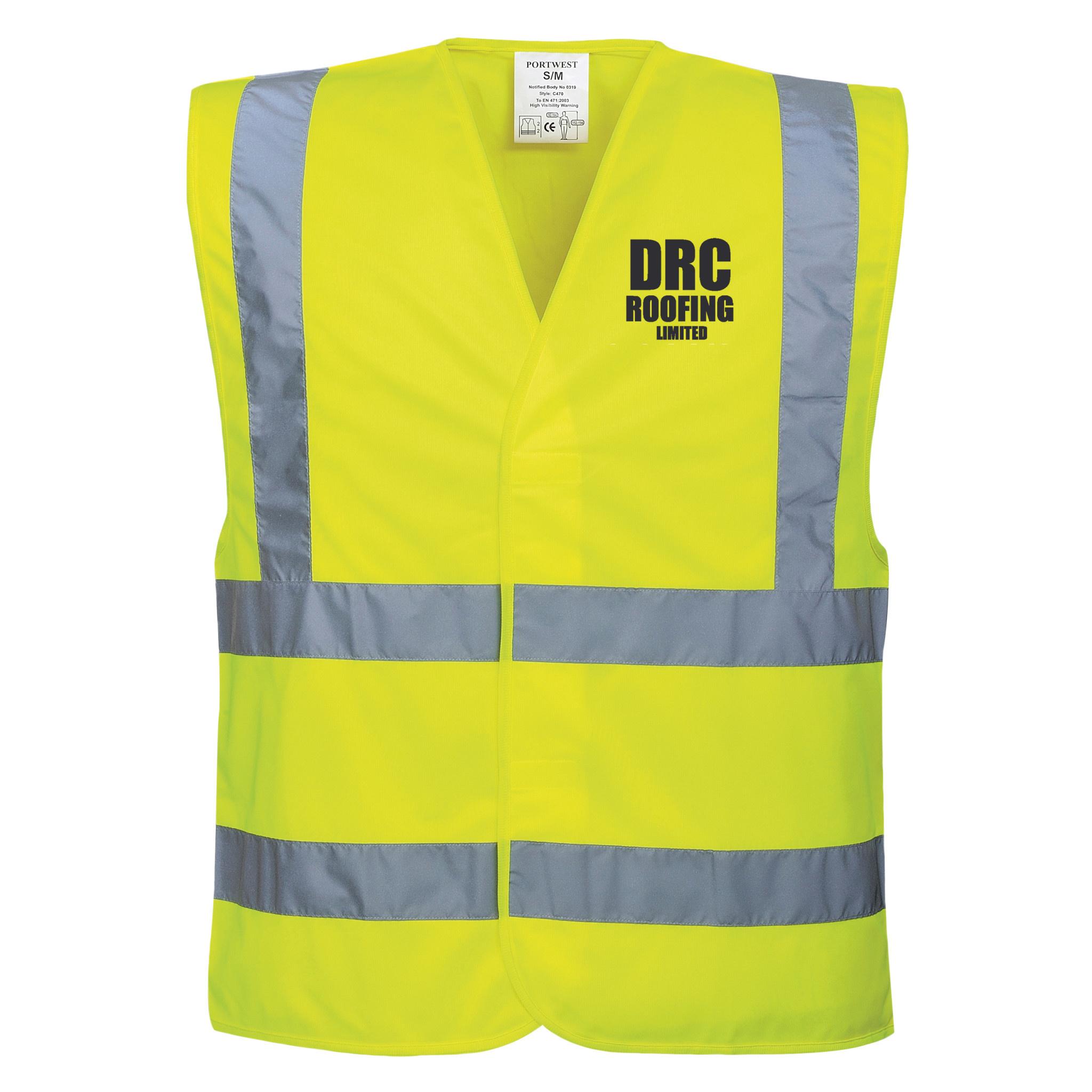 Premium Force DRC Roofing Adults Hi Vis Vest