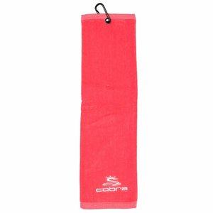 Cobra Tri-Fold Golfhanddoek - Roze