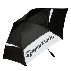 """TaylorMade TaylorMade 68"""" Double Canopy Tour Golf Umbrella - Black White"""