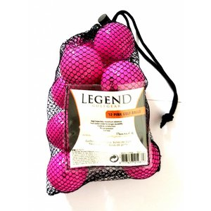 Legend Distance Golf Balls - Dozen / 12-Pack - Pink