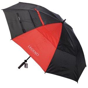 Legend Double Canopy Golfparaplu - Zwart Rood