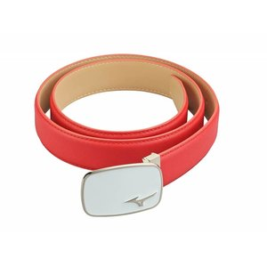 Mizuno Leather Logo Belt 2018 - Red White