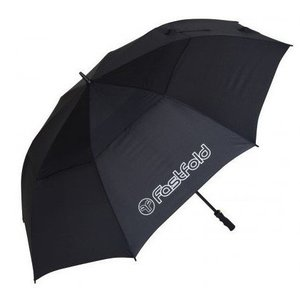 FastFold FastFold Double Canopy Hight End Golf Umbrella - Black
