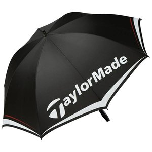 """TaylorMade 60"""" Single Canopy Golfparaplu - Zwart Wit Grijs"""