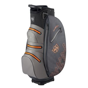 Wilson Staff Dry Tech II Waterproof Cartbag - Grijs Oranje Zwart