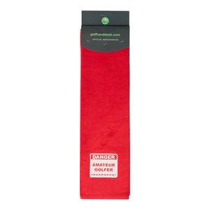 Nova Golf 'Danger Amateur Golfer' Golf Towel - Red White