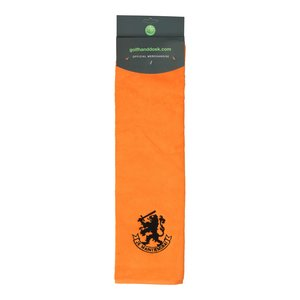 Nova Golf 'Holland Je maintiendrai' Golf Towel - Orange Black