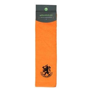 Nova Golf 'Holland Je maintiendrai' Golfhanddoek - Oranje Zwart