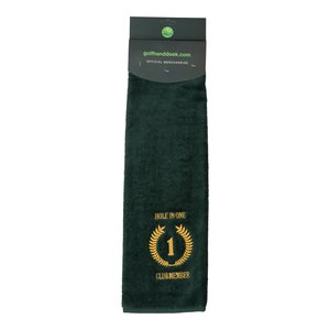 Nova Golf 'Hole In One Club Member' Golfhanddoek - Groen Wit