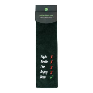Nova Golf Nova Golf 'Eagle Birdie Bear' Golf Towel - Green