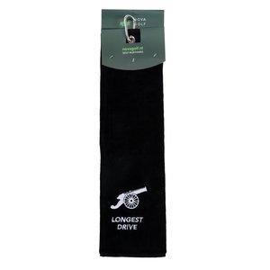 Nova Golf 'Longest Drive' Golfhanddoek - Zwart Wit
