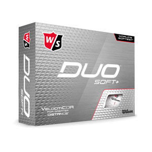 Wilson Staff DUO Soft+ 2020 Golfballen - Dozijn / 12 stuks - Wit