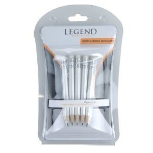 Legend Legend Pencils with eraser (Packed by 5 pcs)