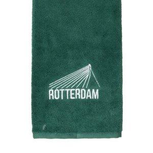 Nova Golf 'Rotterdam Erasmusbrug' Golfhanddoek - Groen Wit