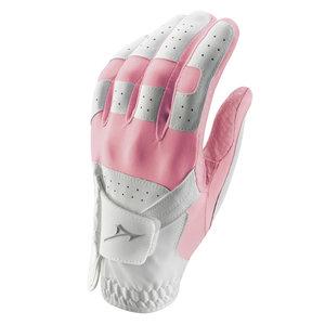Mizuno Stretch Golfhandschoen Ladies - Wit Roze (Rechtshandige Golfers)
