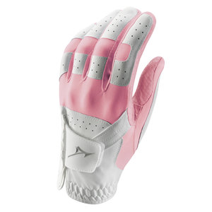 Mizuno Stretch Golfhandschoen Ladies - Wit Roze