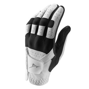 Mizuno Mizuno Stretch Golfhandschoen Men - Wit Zwart (Rechtshandige Golfers)