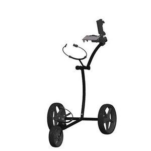 FastFold Elegance Stainless Steel Golf Trolley - Black