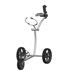 FastFold FastFold Elegance Stainless Steel Golf Trolley - Silver