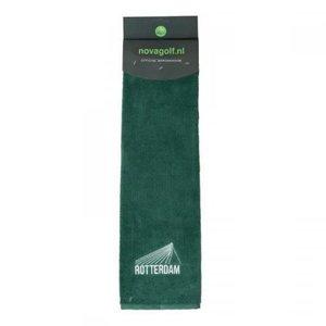 Nova Golf 'Rotterdam Erasmus Bridge' Golf Towel - Green White