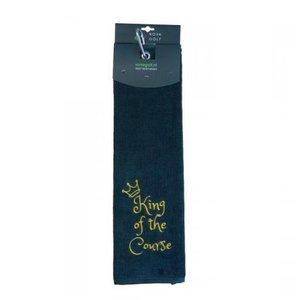 Nova Golf 'King Of The Course' Golf Towel - Green White