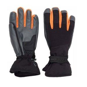 Sinner Wolf Dry--S Heren Handschoenen -- Zwart Oranje