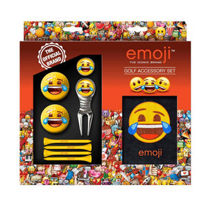Second Chance Second Chance Emoji Golf Accessoires Set - Smiley