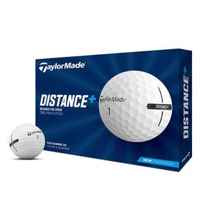 TaylorMade TaylorMade Distance+ Golf Balls 2021 - Dozen / 12 Pack - White