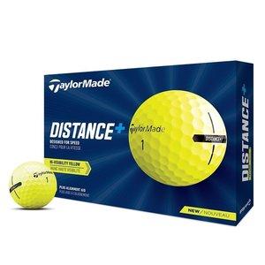 TaylorMade TaylorMade Distance+ Golf Balls 2021 - Dozen / 12 Pack - Yellow