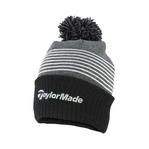 TaylorMade TaylorMade Bobble Beanie 2020  - Black Grey White