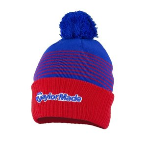 TaylorMade TaylorMade Bobble Beanie 2020  - Red Royal Blue