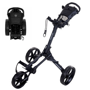 FastFold FastFold Square Golf Trolley - Charcoal Black