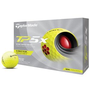 TaylorMade TaylorMade TP5x Golfballen 2021 Geel - Dozijn / 12 stuks