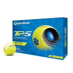 TaylorMade TaylorMade TP5 Golfballen 2021- Dozijn / 12 stuks  - Geel