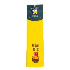 Nova Golf Nova Golf 'My Best Hole Is' Golf Towel - Yellow