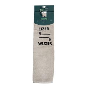 Nova Golf Nova Golf 'IJzer Wijzer' Golf Towel - Grey