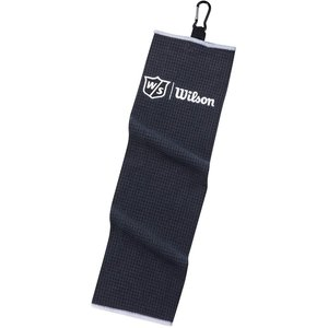 Wilson Wilson Staff Tri-Fold Golfhanddoek - Zwart