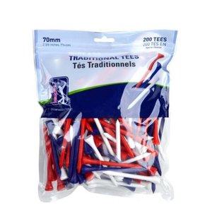 Second Chance PGA Tour Traditional Tees (200 stuks) - Gekleurd
