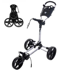 FastFold FastFold Slim Golf Trolley - Silver Black