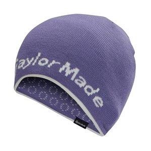 TaylorMade TaylorMade Reversable Ladies Beanie - Purple White